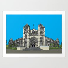 The Natural History Museum, London Art Print