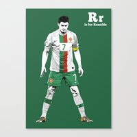 R Is For Ronaldo Canvas Print