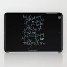 To be lonely alone iPad Case