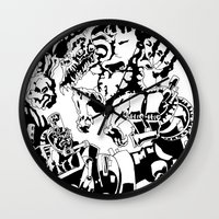 Doktor Steampug- Black and White Wall Clock