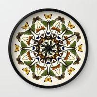 Kaleidoscope With Wings Wall Clock