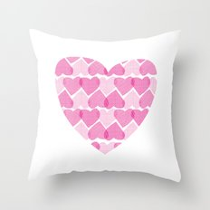 Pretty ruby heart Throw Pillow