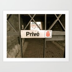Prive Art Print