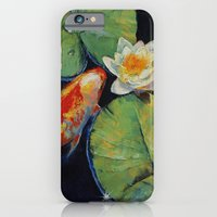 Koi And White Lily iPhone 6 Slim Case