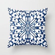 Butterfly: Navy Throw Pillow