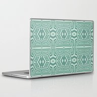 Fancy Tribal Pattern,aqu… Laptop & iPad Skin