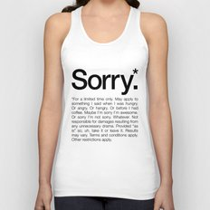 Sorry.* For A Limited Ti… Unisex Tank Top