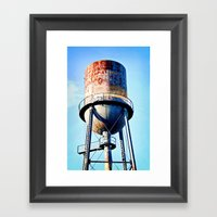 Marathon Tower Framed Art Print