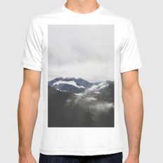 Mt. Rainier National Park SMALL White Mens Fitted Tee