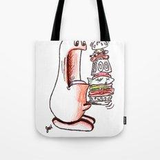 Boogle Vs. Hamburger Tote Bag