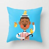 Throw Pillow featuring Barbershop Quartet by Mouki K. Butt