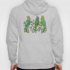 Green Folk Birds Hoody