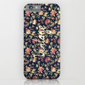 Vintage Elegant Pink and Red Roses Floral Pattern iPhone & iPod Case