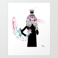 Art Print featuring Ice Cream Queen by Olive Primo Design + Illustration