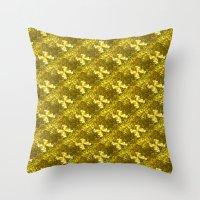Golden Bows  Throw Pillow