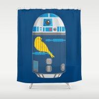 R2 Birdcage Shower Curtain