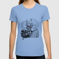 Brainiac Womens Fitted Tee Tri-Blue SMALL
