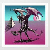sunset on the astral plane Art Print