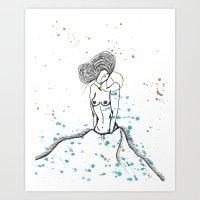 Real Fly Belle Art Print