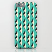 turquoise petal lines  iPhone 6 Slim Case