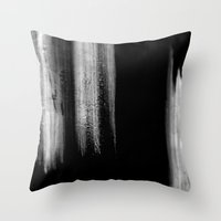 Black And White Brush St… Throw Pillow
