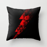 Lightning Chase Throw Pillow