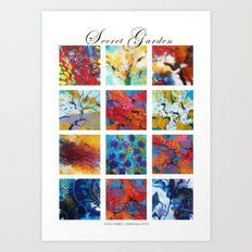 Secret garden composition Art Print