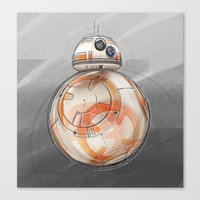 BB8 - on the move Canvas Print