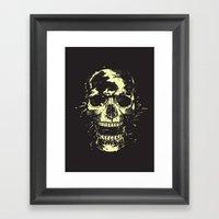 Scream (gold) Framed Art Print