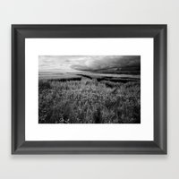 Storm Head Over the Intracoastal Waterway Framed Art Print