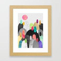 Little Land of Pebbles Framed Art Print