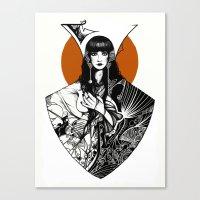 Lady Detail (alternate version) Canvas Print
