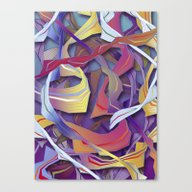 Interaction (in Purple) Canvas Print