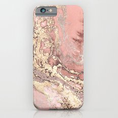 Rosegold marble iPhone 6 Slim Case