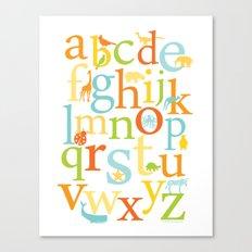 Alphabet Animals - Sandbox colorway Canvas Print
