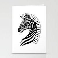 Zebra Clef Stationery Cards