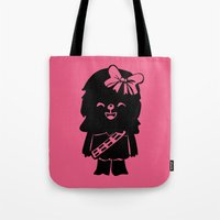 Baby Girl Wookie in Pink Graphic Tote Bag