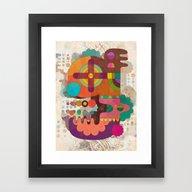 Framed Art Print featuring The Letter G by C86 | Matt Lyon