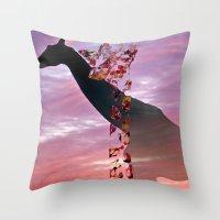 Goodnight Giraffes Throw Pillow