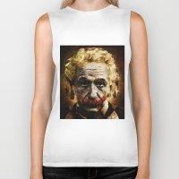 Einstein The Joker (Relatively Funny) Biker Tank