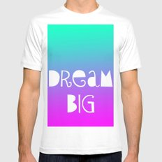 Dream Big White SMALL Mens Fitted Tee