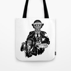 Three Wise Monkeys Tote Bag