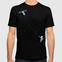 Satellite Kite Mens Fitted Tee Black SMALL
