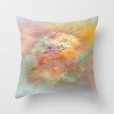 A Painted Tapestry~Awaiting a Tea Party by Quaker Hill Farm Throw Pillow