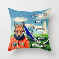 Starfox - F*CK YOU PEPPY… Throw Pillow