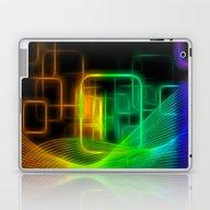 Abstract Glowing Lines Laptop & iPad Skin