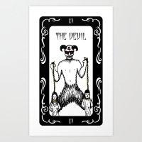 The Devil Tarot Art Print