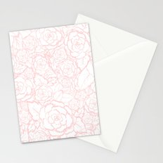Pink Roses Stationery Cards