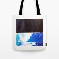 SKY/BLK Tote Bag