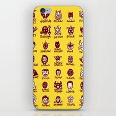 Happy Little Marvels - Yellow iPhone & iPod Skin